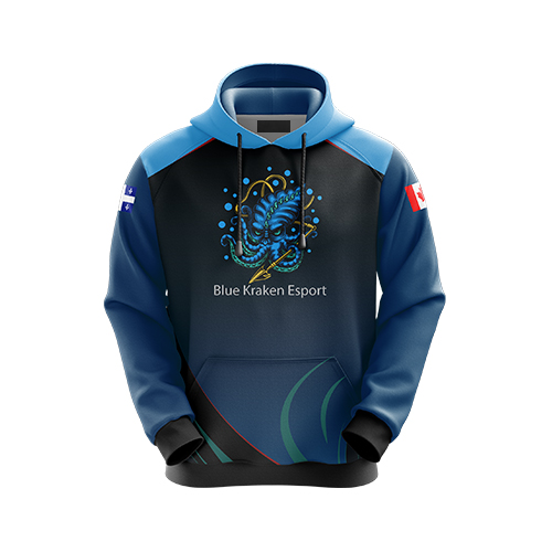 Blue Kraken Esports hoodie